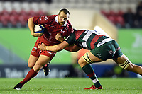 Ken Owens of the Scarlets takes on the Leicester Tigers defence. Heineken Champions Cup match, between Leicester Tigers and the Scarlets on October 19, 2018 at Welford Road in Leicester, England. Photo by: Patrick Khachfe / JMP