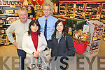 Mike Corkery, assistant manager SuperValu, Kenmare, pictured with Maura Murphy, Donal Harrington and Mairead Murnane in Murphys SuperValu...