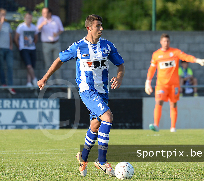 20140626 - LAUWE, BELGIUM : Gent Uros Vitas pictured during  a friendly match between FC Gullegem and Belgian first division soccer team KAA Gent, the second match for KAA Gent of the preparations for the 2014-2015 season, Tuesday 24 June 2014 in Lauwe. PHOTO DAVID CATRY