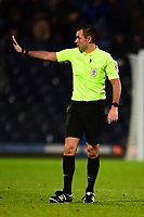 Referee Tom Nield gestures<br /> <br /> Photographer Richard Martin-Roberts/CameraSport<br /> <br /> The Carabao Cup First Round - Tuesday 13th August 2019 - Blackburn Rovers v Oldham Athletic - Ewood Park - Blackburn<br />  <br /> World Copyright © 2019 CameraSport. All rights reserved. 43 Linden Ave. Countesthorpe. Leicester. England. LE8 5PG - Tel: +44 (0) 116 277 4147 - admin@camerasport.com - www.camerasport.com