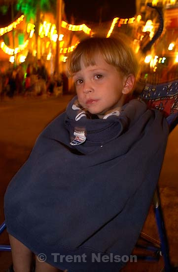 Nathaniel Nelson, wrapped up at the California theme park. 10/07/2001, 8:51:40 PM<br />