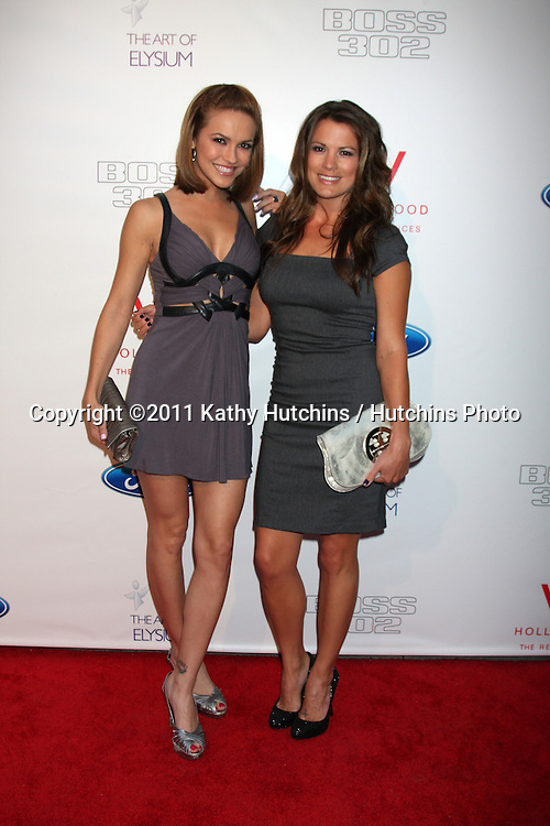 LOS ANGELES - JUN 9:  Melissa Claire Egan, Chrishell Stause arriving at the Art of Elysium Return of Ford Mustang Boss Event at The Residences at W Hollywood on June 9, 2011 in Los Angeles, CA
