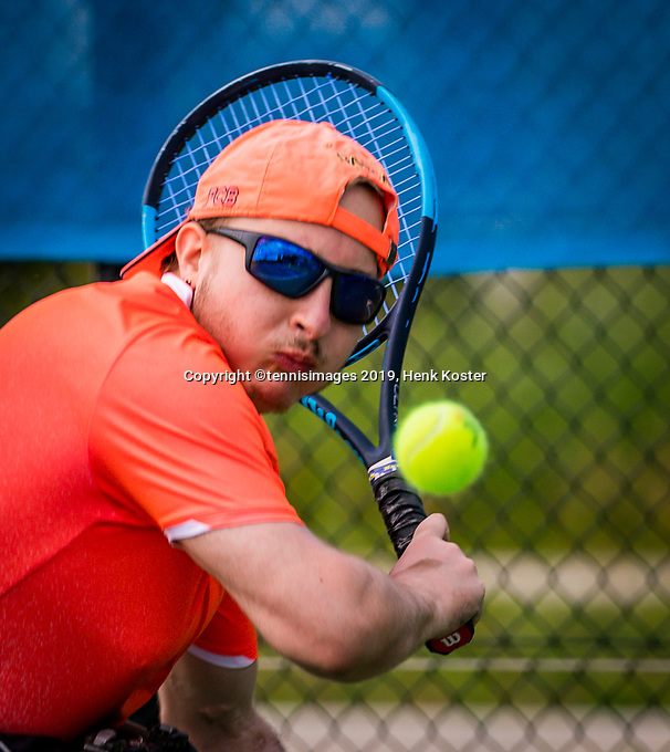 Amstelveen, Netherlands, 19 Augustus, 2020, National Tennis Center, NTC, NKR, National  Wheelchair Tennis Championships, Men's single: Mitchel Graauw (NED)<br /> Photo: Henk Koster/tennisimages.com