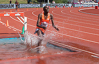 Abraham Kibiwot of Kenya  competing in the Men's 3000m Steeplechase during the Muller Grand Prix  IAAF Diamond League meeting at Alexander Stadium, Perry Barr, Birmingham.<br /> Picture by Alan Stanford +44 7915 056117<br /> 18/08/2018