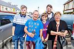 Tony and Liam Mehan, John O'Gorman, Cory and Leesha Mehan (Ballybunion) enjoying the Ballyduff Horse fair on Sunday.