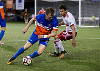 Cincinnati, OH - Tuesday August 15, 2017: Jimmy McLaughlin, Salvatore Zizzo during a 2017 U.S. Open Cup game between FC Cincinnati vs New York Red Bulls at Nippert Stadium.