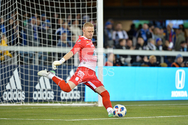 San Jose, CA - Saturday March 24, 2018: William Yarbrough during an international friendly between the San Jose Earthquakes and Club Leon FC at Avaya Stadium.