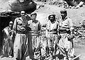 Iraq 1983 <br /> In Nawzang?, from left to right, Nou Shirwan Mustafa, Mullazem Omar Abdallah and 1st right, Mamosta Rostam  <br /> Irak 1983 <br /> A Nawzang?, de gauche a droite, Nou Shirwan Mustafa, Mullazem Omar Abdallah et dernier a droite, Mamosta Rostam
