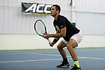 WINSTON-SALEM, NC - JANUARY 23: Wake Forest's Eduardo Nava. The Wake Forest University Demon Deacons hosted Coastal Carolina University on January 23, 2018 at Wake Forest Tennis Complex in Winston-Salem, NC in a Division I College Men's Tennis match. Wake Forest won the match 6-1.