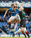 Jon Daly outnumbered in the box