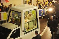 VISITA PAPA BENEDETTO XVI NELLA FOTO PAPA BENEDETTO XVI RELIGIONE BRESCIA 08/11/2009 FOTO MATTEO BIATTA<br /> <br /> VISIT OF POPE BENEDICT XVI IN THE PICTURE POPE BENEDICT XVI RELIGION BRESCIA 08/11/2009 PHOTO BY MATTEO BIATTA