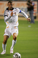LA Galaxy midfielder David Beckham (23) during the first half of the SuperLiga finals between the Los Angeles Galaxy of MLS and CF Pachuca of FMF at the Home Depot Center, Carson, CA, on August 29, 2007. Pachuca wins 4-3 on penalty kicks after the game finished in a 1-1 tie.
