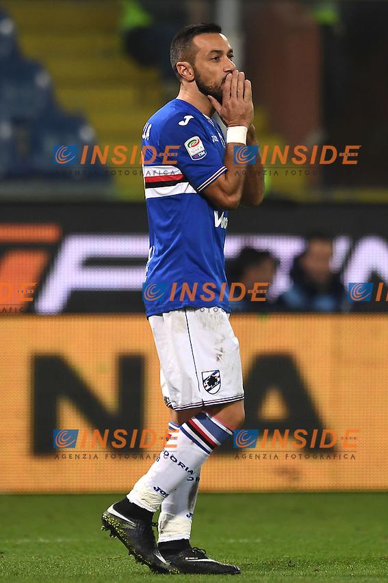 Fabio Quagliarella Sampdoria <br /> Genoa 10-12-2016 Stadio Marassi Football Calcio Serie A 2016/2017 Sampdoria - Lazio foto Image Sport/Insidefoto
