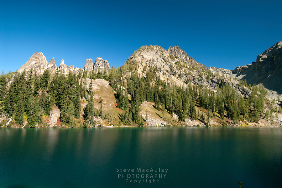 Liberty Bell Group from backside, Blue Lake, North Cascades National Park, WA.