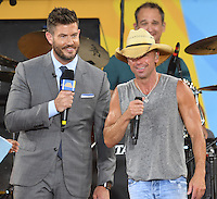 NEW YORK, NY - JULY 8: Jesse Palmer interviews Kenny Chesney performs on ABC's 'Good Morning America' at SummerStage at Rumsey Playfield, Central Park on July 8, 2016 in New York City. Credit: John Palmer / MediaPunch