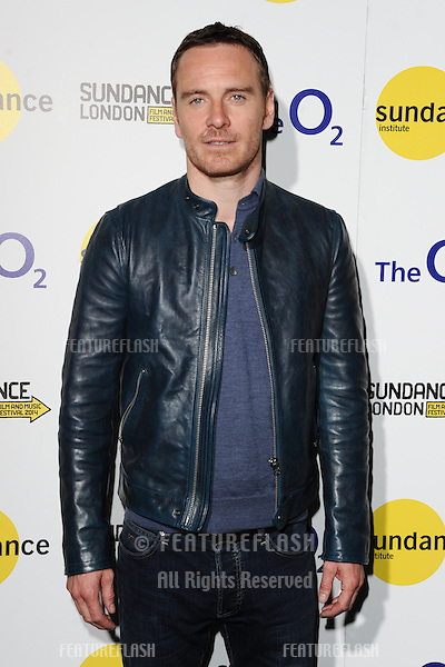 "Michael Fassbender at the ""Frank"" screening as part of Sundance London 2014, O2 arena, London. 25/04/2014. Picture by: Steve Vas / Featureflash"