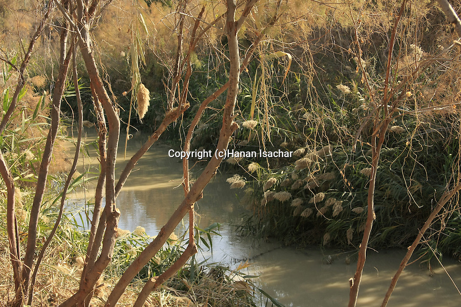 Jordan Valley, Qasr al Yahud. The place of Jesus' baptism by John the Baptist at the Jordan River