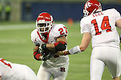 January 5th, 2008:  Rutgers Ray Rice (27) takes the handoff from Mike Teel (14) on a one yard touchdown run during the third quarter of the International Bowl at the Rogers Centre in Toronto, Ontario Canada...Rutgers defeated Ball State 52-30.  ..Photo By:  Mike Janes Photography