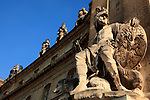 The statue decorated the entrance of Hotel les Invalides. Paris. city of Paris. France