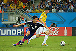 (L to R) <br /> Maya Yoshida (JPN), <br /> James Rodriguez (COL), <br /> JUNE 24, 2014 - Football /Soccer : <br /> 2014 FIFA World Cup Brazil <br /> Group Match -Group C- <br /> between Japan 1-4 Colombia <br /> at Arena Pantanal, Cuiaba, Brazil. <br /> (Photo by YUTAKA/AFLO SPORT)
