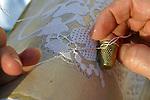 Burano, merlettaia al lavoro, 2004, lace maker at work