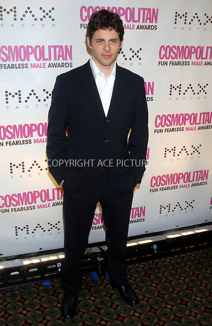 WWW.ACEPIXS.COM . . . . . ....January 22nd, 2007, New York City. ....James Marsden attends the Cosmopolitan Magazine Honoring Nick Lachey as Fun Fearless Man of the Year at Cipriani. ......Please byline: KRISTIN CALLAHAN - ACEPIXS.COM.. . . . . . ..Ace Pictures, Inc:  ..(212) 243-8787 or (646) 769 0430..e-mail: info@acepixs.com..web: http://www.acepixs.com
