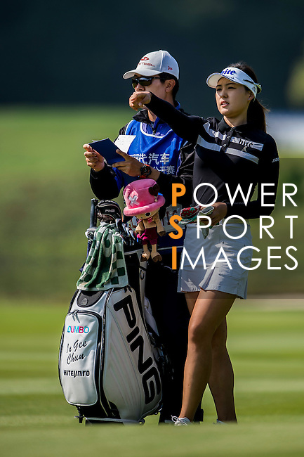 In Gee Chun of Korea in action during the Hyundai China Ladies Open 2014 at World Cup Course in Mission Hills Shenzhen on December 14<br />  2014, in Shenzhen, China. Photo by Li Man Yuen / Power Sport Images