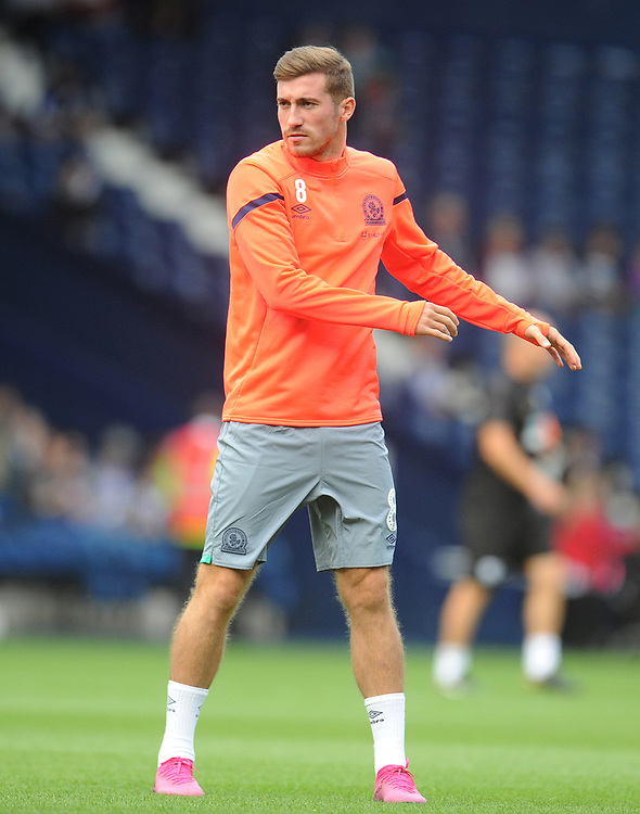 Blackburn Rovers' Joe Rothwell during the pre-match warm-up <br /> <br /> Photographer Kevin Barnes/CameraSport<br /> <br /> The EFL Sky Bet Championship - West Bromwich Albion v Blackburn Rovers - Saturday 31st August 2019 - The Hawthorns - West Bromwich<br /> <br /> World Copyright © 2019 CameraSport. All rights reserved. 43 Linden Ave. Countesthorpe. Leicester. England. LE8 5PG - Tel: +44 (0) 116 277 4147 - admin@camerasport.com - www.camerasport.com