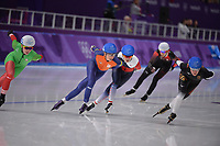 OLYMPIC GAMES: PYEONGCHANG: 24-02-2018, Gangneung Oval, Long Track, Mass Start Ladies, Annouk van der Weijden (NED), Claudia Pechstein (GER), ©photo Martin de Jong