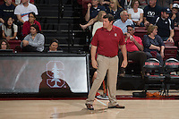 Stanford, CA - Saturday, March 7, 2015: Stanford Men's Volleyball beats BYU 25-21, 24-26, 26-24, 25-18 at Maples Pavilion.