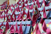 Flags with the hashtag 'UTC' laid out for Burnley fans ahead of kick-off at Turf Moor<br /> <br /> Photographer Rich Linley/CameraSport<br /> <br /> The Premier League - Saturday 13th April 2019 - Burnley v Cardiff City - Turf Moor - Burnley<br /> <br /> World Copyright © 2019 CameraSport. All rights reserved. 43 Linden Ave. Countesthorpe. Leicester. England. LE8 5PG - Tel: +44 (0) 116 277 4147 - admin@camerasport.com - www.camerasport.com