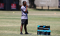 Michael Khumbuza (Kit Manager) of the Cell C Sharks during the cell c sharks pre season training session at  Growthpoint Kings Park ,22,01,2018 Photo by Steve Haag)