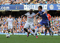 Pictured L-R: Leroy Lita of Swansea against John terry of Chelsea. Saturday 17 September 2011<br />