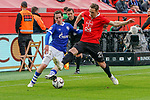 11.05.2019, BayArena, Leverkusen, GER, 1. FBL, Bayer 04 Leverkusen vs. FC Schalke 04 ,<br />  <br /> DFL regulations prohibit any use of photographs as image sequences and/or quasi-video<br /> <br /> im Bild / picture shows: <br /> Sebastian Rudy (FC Schalke #13), im Zweikampf gegen  Dominik Kohr (Leverkusen #21), <br /> <br /> Foto &copy; nordphoto / Meuter