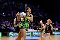 Pulse&rsquo; Aliyah Dunn in action during the ANZ Premiership - Pulse v Magic at TSB Bank Arena, Wellington, New Zealand on Sunday 21 April 2019. <br /> Photo by Masanori Udagawa. <br /> www.photowellington.photoshelter.com