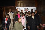 Cast Black Angels - Lamman Rucker, David Boykins, Thaddeus Daniels,  Melvin Huffnagle, Thom Scott II, Steve Brustien, David Roberts, Layon Gray (front) on February 26, 2011 at the Actors Temple Theatre, New York City, New York. (Photo by Sue Coflin/Max Photos)