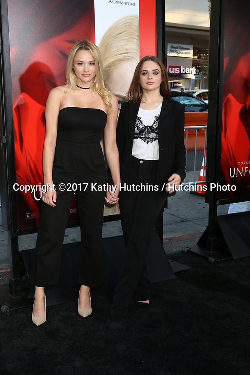 """LOS ANGELES - APR 18:  Hunter King, Joey King at the """"Unforgettable"""" Premiere at TCL Chinese Theater IMAX on April 18, 2017 in Los Angeles, CA"""