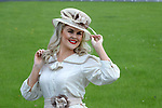 "14-8-2017: Dawn O'Sullivan in vintage attire pictured at the launch of the 7 day Listowel Harvest Racing Festival which takes place from Sunday 10th to Saturday 16th of September at Listowel Race Track on Monday. Ladies Day will be on Friday 15th and Authentic Vintage Outfit day will be on Saturday 16th.  The ""Save your heels - we have got wheels"" free double decker bus will ferry racegoers to the Listowel Racetrack departing from 12 noon, every half hour from the town Square on Ladies day.<br /> Photo: Don MacMonagle<br /> <br /> repro free photo:<br /> <br /> Press Release:<br /> The Race is on ... to Munster's biggest and best racing festival - the 7 day Listowel Harvest Racing Festival, from Sunday 10th to Saturday 16th of September. Racing highlights include the €175,000 Guinness Kerry National Handicap Steeplechase (Grade A) Chase on Wednesday 13th; the €55,000 Guinness Handicap Hurdle on Thursday 14th and the Listowel Races Supporters Club Sponsored Race 'The Slán Abhaile"" on Saturday 16th of September. This year the total Prize Money over the 7-days is €1.2 million (€1,225,500). <br /> <br /> Fashionable racers of all ages can look forward to three days of Best Dressed competitions, including dedicated categories for gentlemen, ladies, younger racers, vintage lovers, couples and the most Stylish Selfie! The fashion highlight of the week is the McElligott's Honda Ladies Day on Friday 15th of September judged by top TV Presenters Maura Derrane and Daithi O Se. The overall McElligotts Honda Best Dressed Lady will win a Honda Jazz for a year and €3,000 in cash, with further cash prizes of €3,000 to be won on the day. The popular Best Dressed Man Competition, sponsored by Emerald Properties, Construction & Property Rentals, Listowel, is on Thursday 14th and will be judged by the Crimmin Triplets. The Listowel Tidy Town / An Taisce The Best Presentation of an Up cycled/Restyled or Authentic Vintage Outfit is on the closing date of the festival, Saturday 16th of September. As always, in addi"