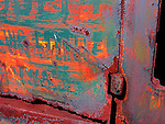 Rusting metal on abandoned vehicle