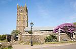 Parish church of St Buryan, Cornwall, England, UK