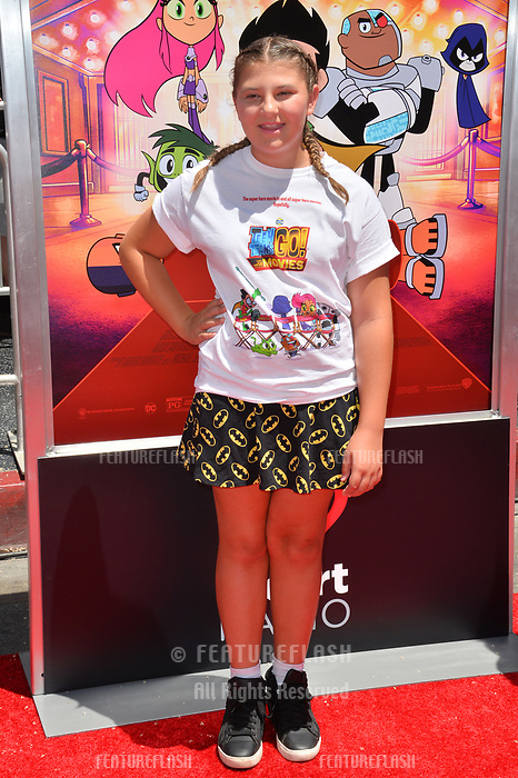 Mackenzie Hancsicsak at the premiere for &quot;Teen Titans Go! to the Movies&quot; at the TCL Chinese Theatre, Los Angeles, USA 22 July 2018<br /> Picture: Paul Smith/Featureflash/SilverHub 0208 004 5359 sales@silverhubmedia.com