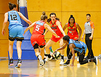 29th December 2019; Bendat Basketball Centre, Perth, Western Australia, Australia; Womens National Basketball League Australia, Perth Lynx versus Canberra Capitals; Olivia Epoupa of the Canberra Capitals falls while dribbling the ball - Editorial Use