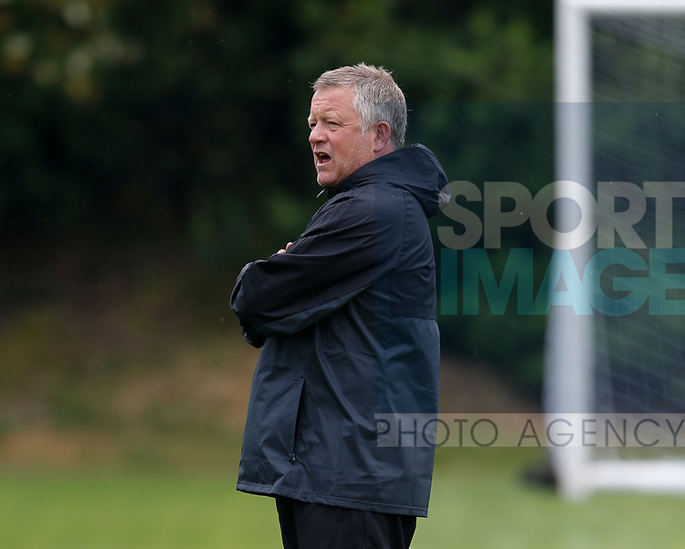 Chris Wilder during the training session at the Shirecliffe Training complex, Sheffield. Picture date: June 27th 2017. Pic credit should read: Simon Bellis/Sportimage