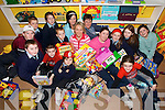 FUN TIME: Staff and pupils at the Na Leanai Pre and After School Centre in Causeway who are organising a fundraising Night at the Dogs to raise funds for a new state of the art Childcare facility in Causeway..Front L/r. Kevin Burke, Liam Costello, Aoife O'Connor, Grace Costello..Middle row L/r. Danny O'Shea, Christopher O'Donoghue, Gemma O'Sullivan, Helen O'Leary and Rebecca Mulvihill..Back L/r. Michelle Gilbert, Darragh O'Connor, Tara Whyte,  Teresa Reil O'Connor, Nora ann Gilbert and Kerri O'Shea.
