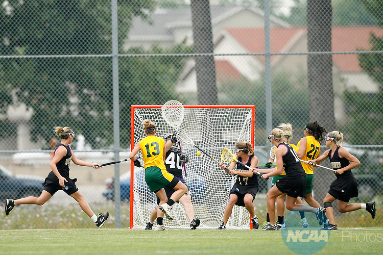 17 May 2008: C.W. Post midfielder Staci Passafiume (13) scores the first goal of the 2008 NCAA Division II Women's Lacrosse Championship at the Division II National Championships Festival at Memorial Park in Houston, TX.  C.W. Post fell to West Chester 13-12.  Trevor Brown, Jr./NCAA Photos.