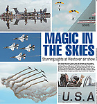 Boston Herald full photo page from the Great New England Air and Space Show at Westover Air Reserve Base in Chicopee, Mass., on Sunday, July 15, 2018. Photos by Christopher Evans