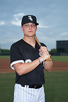 Outfielder Steele Walker (8), the second round draft pick of the Chicago White Sox in the 2018 MLB Draft, poses for a photo before an Arizona League game against the AZL Athletics at Camelback Ranch on July 15, 2018 in Glendale, Arizona. The AZL White Sox defeated the AZL Athletics 2-1. (Zachary Lucy/Four Seam Images)