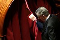 Umberto Bossi<br /> Roma 23/03/2018. Prima seduta al Senato dopo le elezioni.<br /> Rome March 23rd 2018. Senate. First sitting at the Senate after elections.<br /> Foto Samantha Zucchi Insidefoto