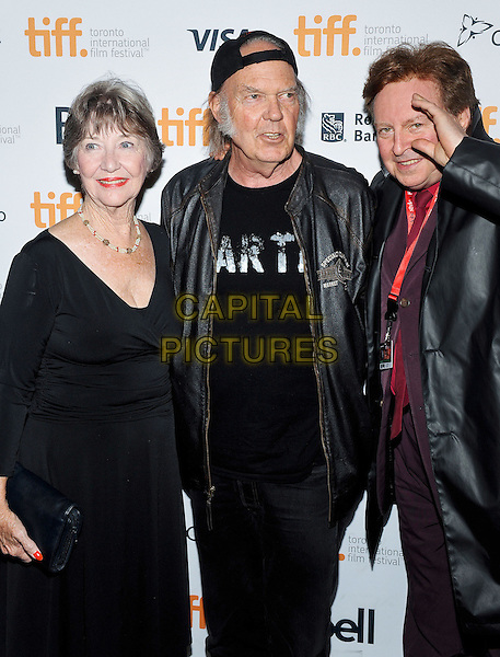 10 September 2014 - Toronto, Canada - Charlotte Stewart, Neil Young, Gerald Casale. &quot;Human Highway&quot; Premiere during the 2014 Toronto International Film Festival held at the The Elgin. <br /> CAP/ADM/BPC<br /> &copy;Brent Perniac/AdMedia/Capital Pictures