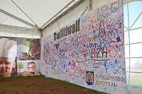 The Graffiti-wall at the exhibition for the municipal of Kristianstad. Photo: Kim Rask/Scouterna
